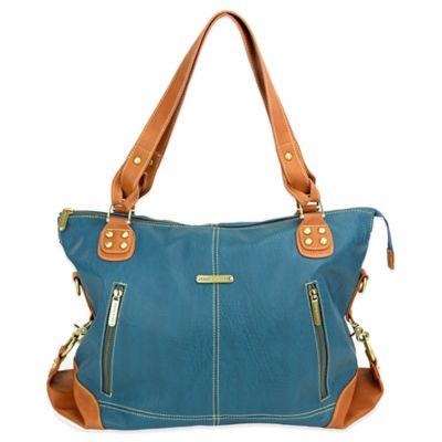 timi & leslie® Kate 7-Piece Diaper Bag Set in Dark Teal/Saddle