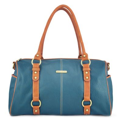 timi & leslie® Madison 7-Piece Diaper Bag Set in Dark Teal/Saddle