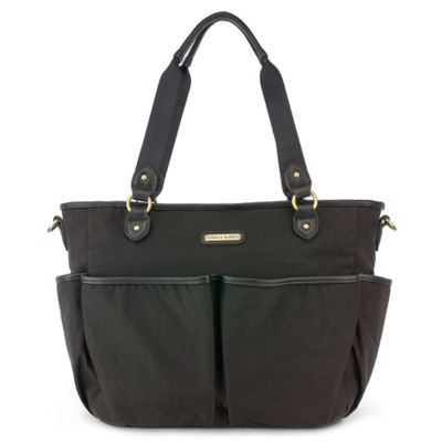 timi & leslie® Tag-a-Long Tote Diaper Bag in Soho Black