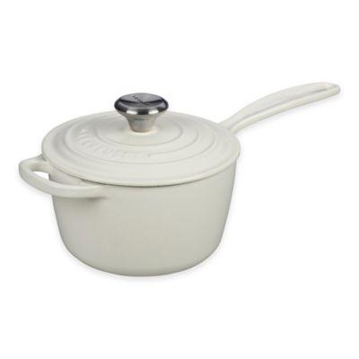 Le Creuset® Signature 1.75 qt. Covered Saucepan in White