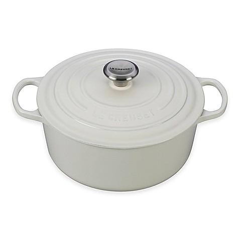Le Creuset® Signature 5.5 qt. Round Dutch Oven in White