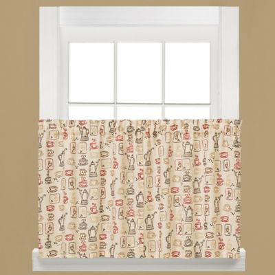 Breaktime Kitchen Window Curtain Tier Pair