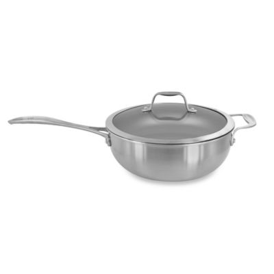Zwilling J.A. Henckels Spirit 4.6 qt. Nonstick Stainless Steel Covered Perfect Pan