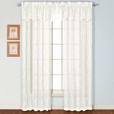 Savannah Rod Pocket 63-Inch Window Curtain Panel in Black