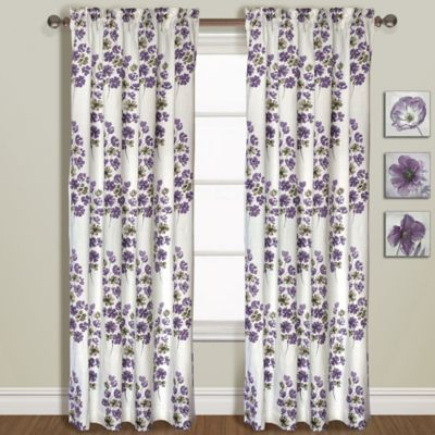 Chelsea 63-Inch Window Curtain Panel in Amethyst