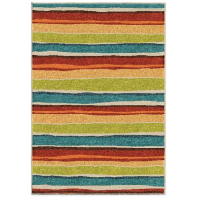 Aria Rugs Kids Court 3-Foot 10-Inch x 5-Foot 1-Inch Multicolor Summertime Rug