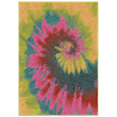 Orian Kids Court 5-Foot 3-Inch x 7-Foot 6-Inch Multicolor Tie Dye Area Rug