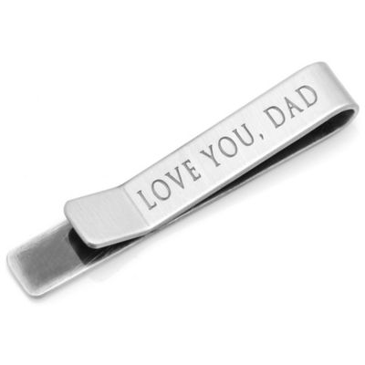 Silver Love You, Dad Hidden Message Tie Bar
