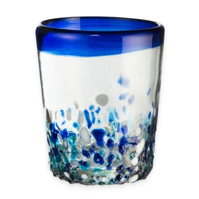 Global Amici Ibiza Double Old Fashioned Glass in Blue