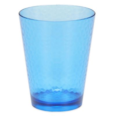 Certified International Acrylic Hammered-Glass Double Old Fashioned Glass in Cobalt Blue (Set of 12)