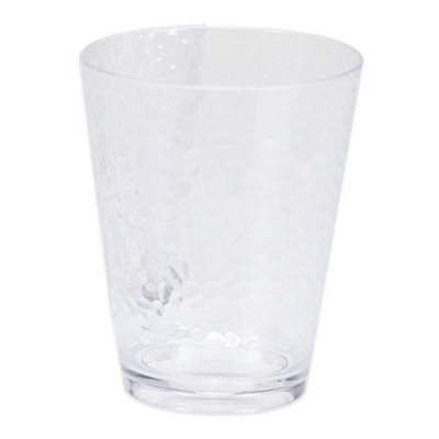 Certified International Acrylic Hammered-Glass Double Old Fashioned Glass in Clear (Set of 12)