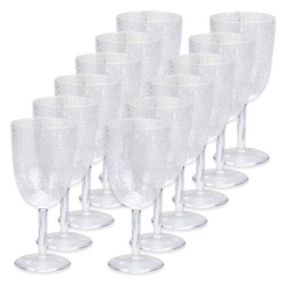 Certified International Acrylic Hammered-Glass Goblet Wine Glasses