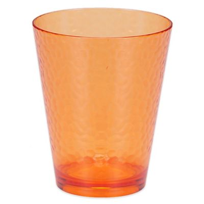 Certified International Hammered-Acrylic Double Old Fashioned Glasses in Orange (Set of 12)