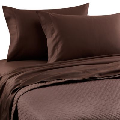 Chocolate Quilted Coverlet