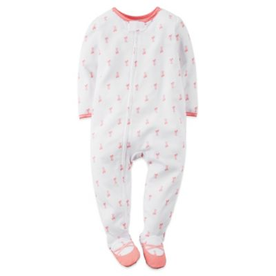 Carter's® Size 18M Ballerina Slipper Footed Pajama in White
