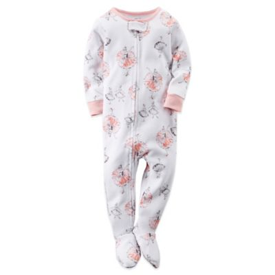Carter's® Size 24M Twirling Ballerina Footed Pajama in White