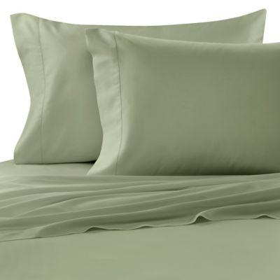 Bellino™ Raso Egyptian Cotton Queen Flat Sheet in Sage