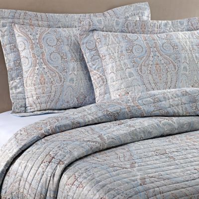 Bellino Fine Linens® Paisley Standard Pillow Sham in Blue