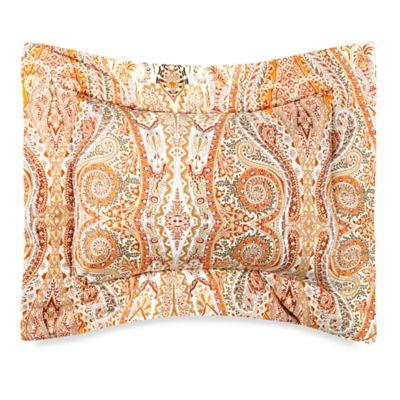 Bellino Fine Linens® Paisley Boudoir Throw Pillow in Orange