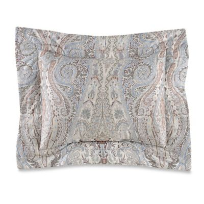 Bellino Fine Linens® Paisley Boudoir Throw Pillow in Blue