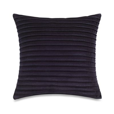 Wamsutta® Davenport Pleated Velvet Square Throw Pillow in Blue
