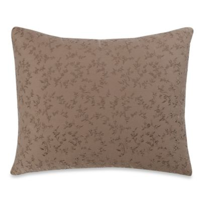 Wamsutta® Vintage Washed Embroidered Oblong Throw Pillow in Raisin