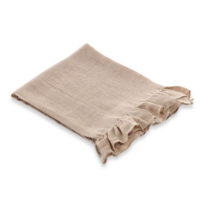Wamsutta® Vintage Washed Linen Gauze Throw in Raisin