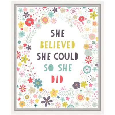 Floral Quote I Wall Art