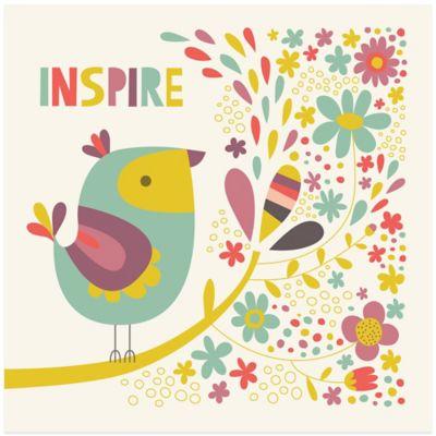 Birdie Num Nums III Inspire Inspirational Wall Art
