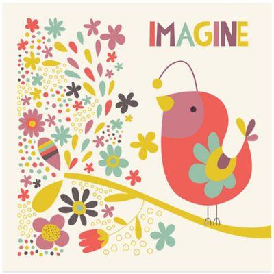 Birdie Num Nums I Imagine Inspirational Wall Art