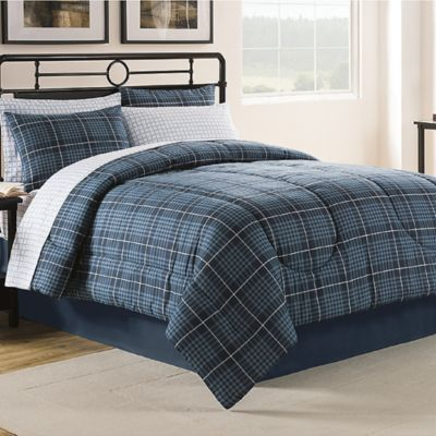 Gavin 6-Piece Twin Comforter Set in Navy