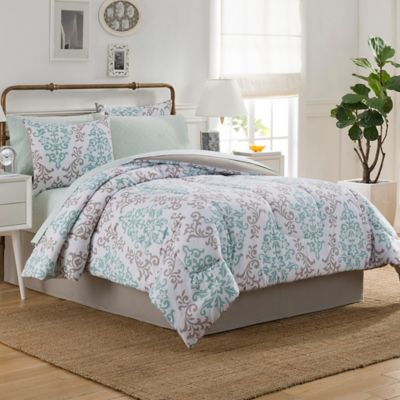 Patterned Comforters in Blue and Green