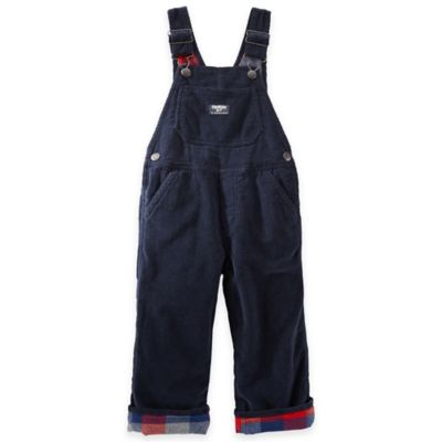 OshKosh B'gosh® Size 4T Flannel-Lined Corduroy Overalls in Navy