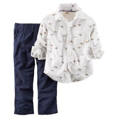 Carter's® Size 2T 2-Piece Paper Planes Shirt and Pant Set
