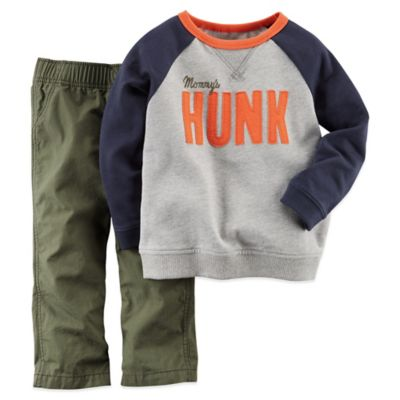 Carter's® Size 3M 2-Piece Mommy's Hunk Long-Sleeve Shirt and Pant Set