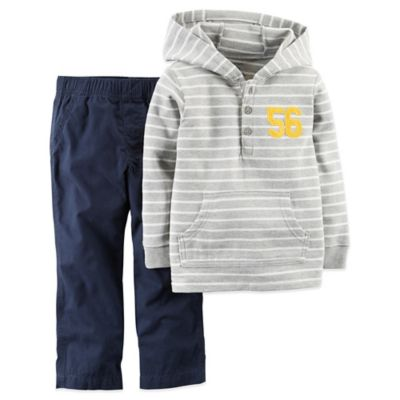 Carter's® Size 2T 2-Piece Pullover and Pant Set in Grey