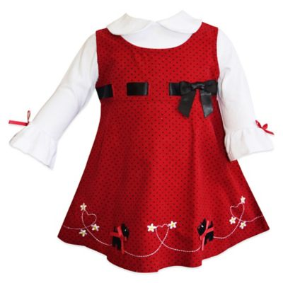 Blueberi Boulevard Size 12M 2-Piece Scottie Dog Jumper and Blouse Set in Red