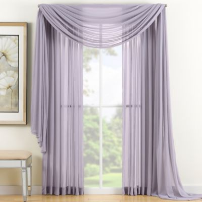 Reverie 63-Inch Sheer Window Curtain Panel in Lavender