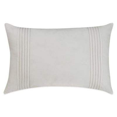 Bridge Street Lydia Pleated Oblong Throw Pillow in Off-White