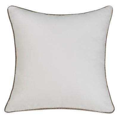 Bridge Street Lydia Square Throw Pillow in Off-White