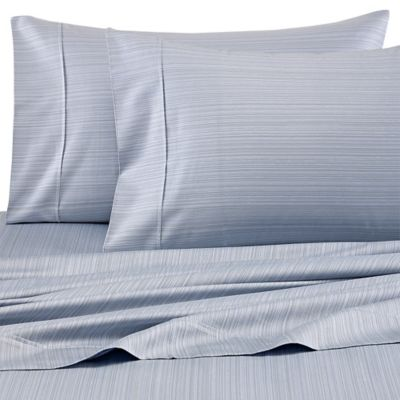 Barbara Barry® Subtle Strie Standard/Queen Pillowcases in Denim (Set of 2)