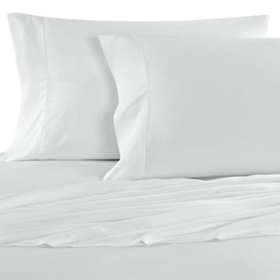 Nine Space Resort Living Fine Bamboo Viscose Queen Sheet Set in Pure White