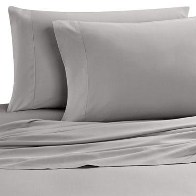 Nine Space Resort Living Fine Bamboo Viscose California King Sheet Set in Grey