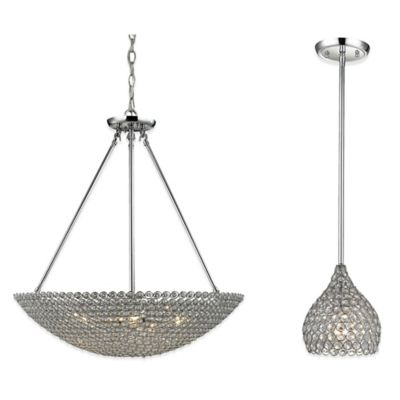 ELK Lighting Hammond 1-Light Pendant Light in Polished Chrome