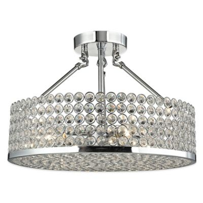 ELK Lighting Hammond 3-Light Semi-Flush Ceiling Fixture in Polished Chrome