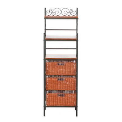 Southern Enterprises Rancho 3-Drawer Baker's Rack