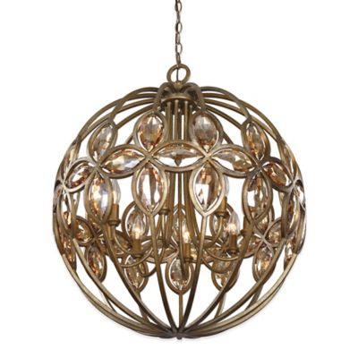 Uttermost Ambre 8-Light Spherical Chandelier in Gold