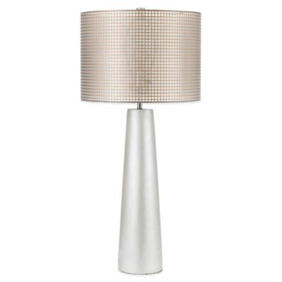 AF Lighting Lola Table Lamp in Pearl with Gauze Hardback Shade