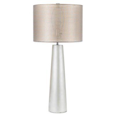AF Lighting Lola Table Lamp in Pearl with Gauze Hardback Shade