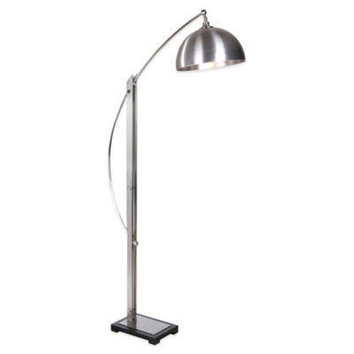 Uttermost Malcolm Floor Lamp in Brushed Nickel
